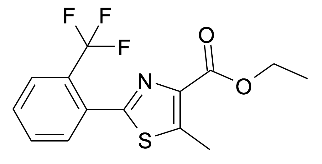 5-Methyl-2-(2-trifluoromethyl-phenyl)-thiazole-4-carboxylic acid ethyl ester