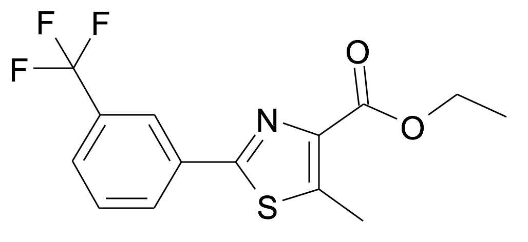 5-Methyl-2-(3-trifluoromethyl-phenyl)-thiazole-4-carboxylic acid ethyl ester