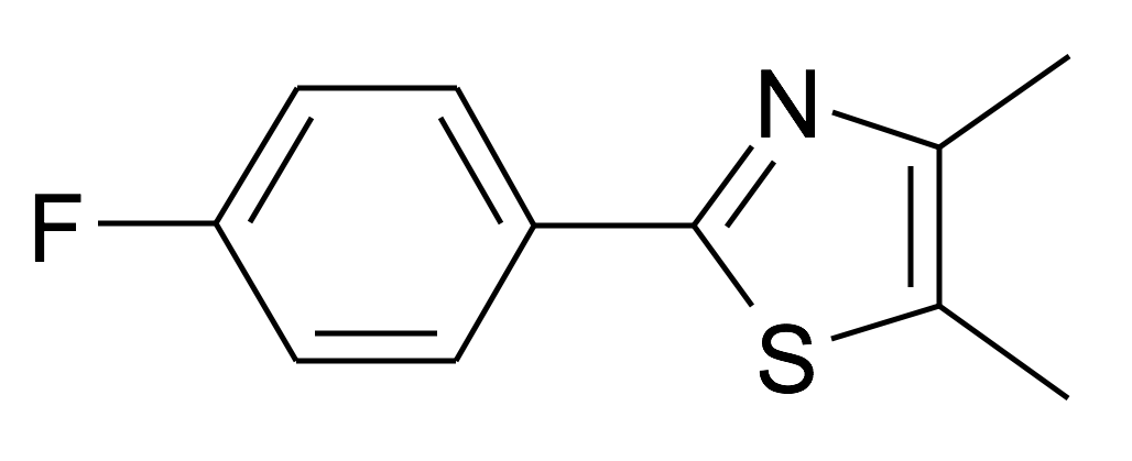 2-(4-Fluoro-phenyl)-4,5-dimethyl-thiazole