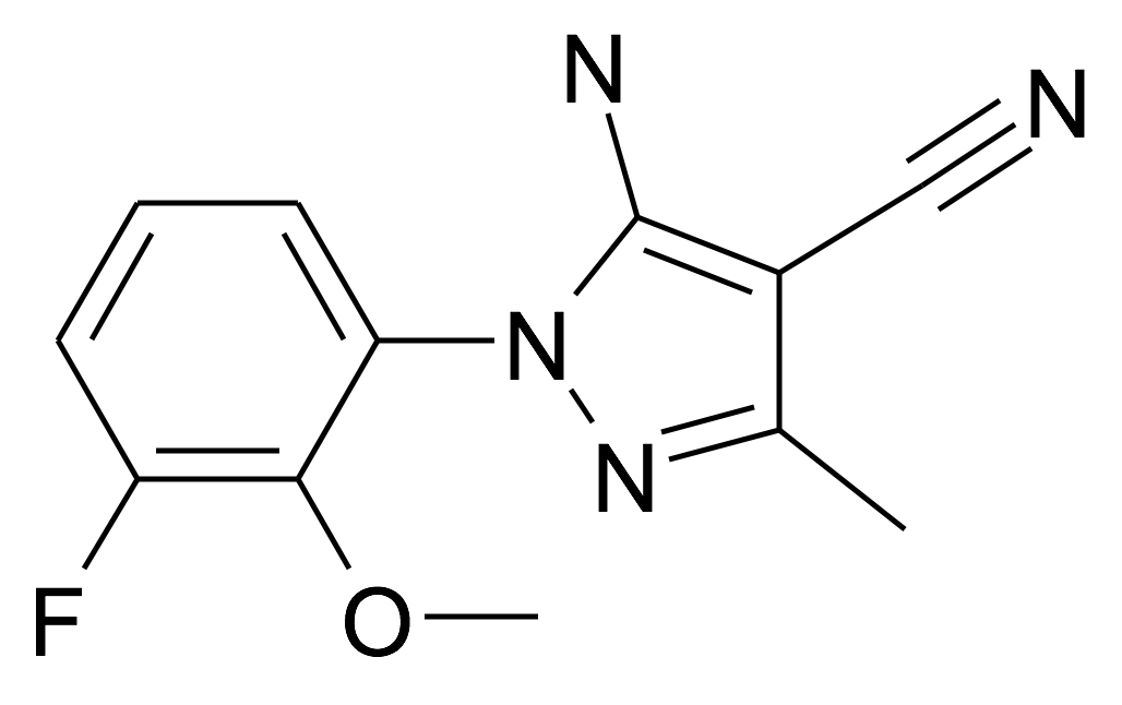 5-Amino-1-(3-fluoro-2-methoxy-phenyl)-3-methyl-1H-pyrazole-4-carbonitrile
