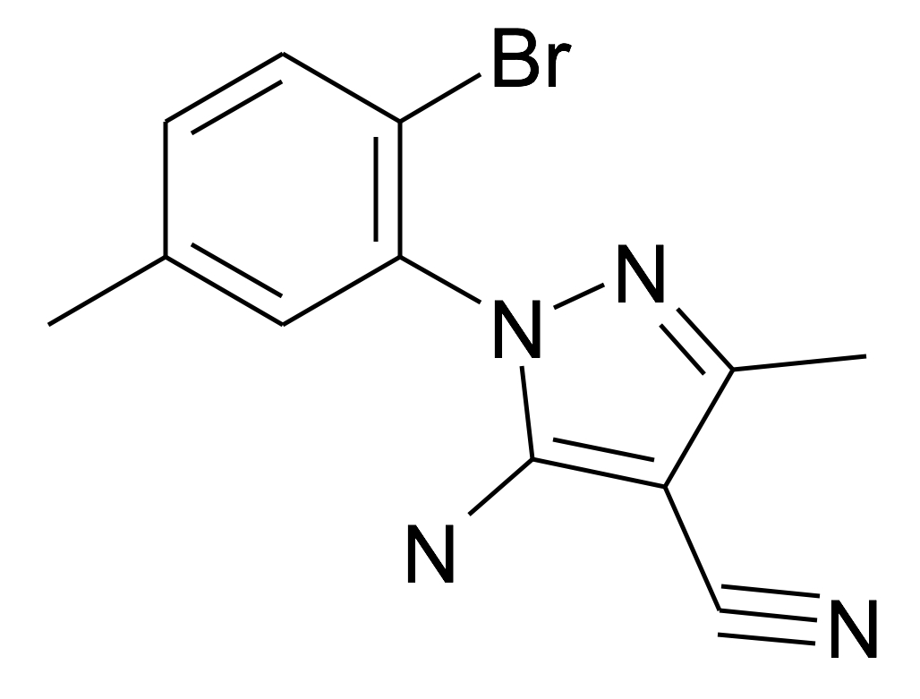 5-Amino-1-(2-bromo-5-methyl-phenyl)-3-methyl-1H-pyrazole-4-carbonitrile