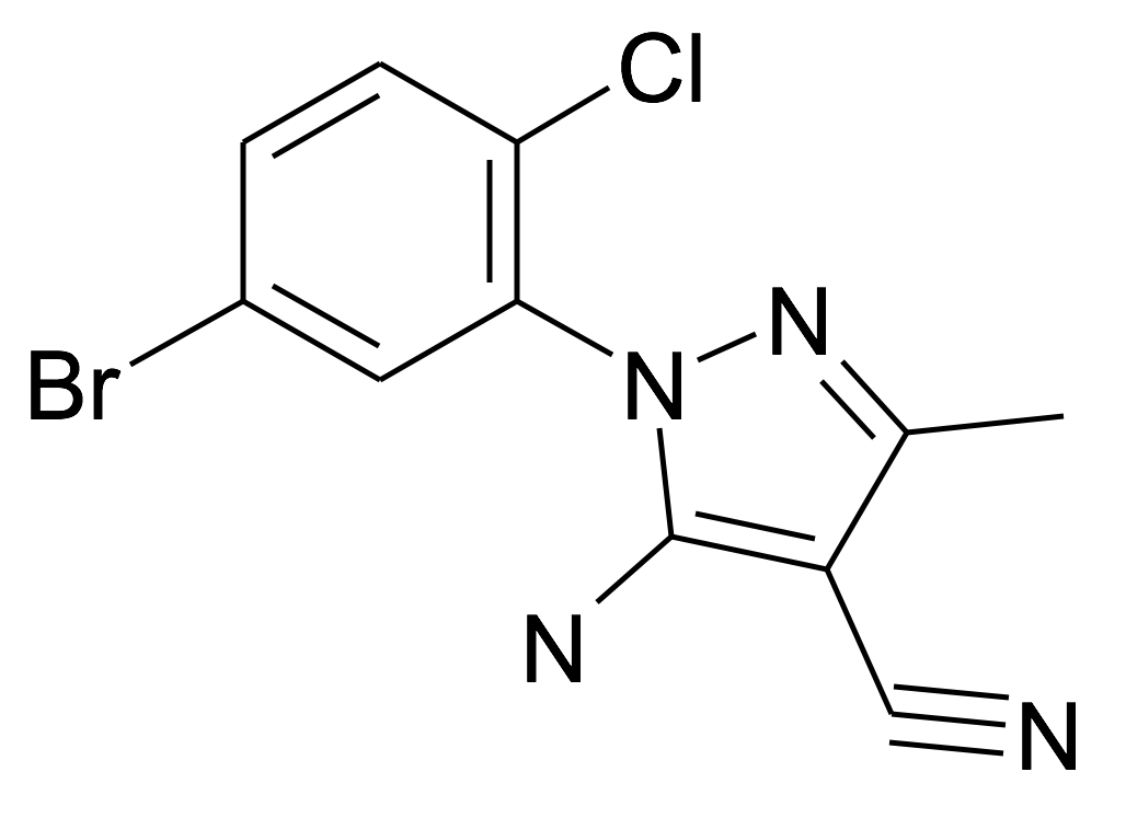 5-Amino-1-(5-bromo-2-chloro-phenyl)-3-methyl-1H-pyrazole-4-carbonitrile