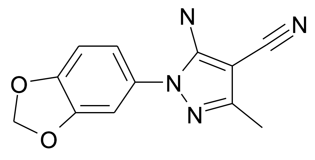 5-Amino-1-benzo[1,3]dioxol-5-yl-3-methyl-1H-pyrazole-4-carbonitrile