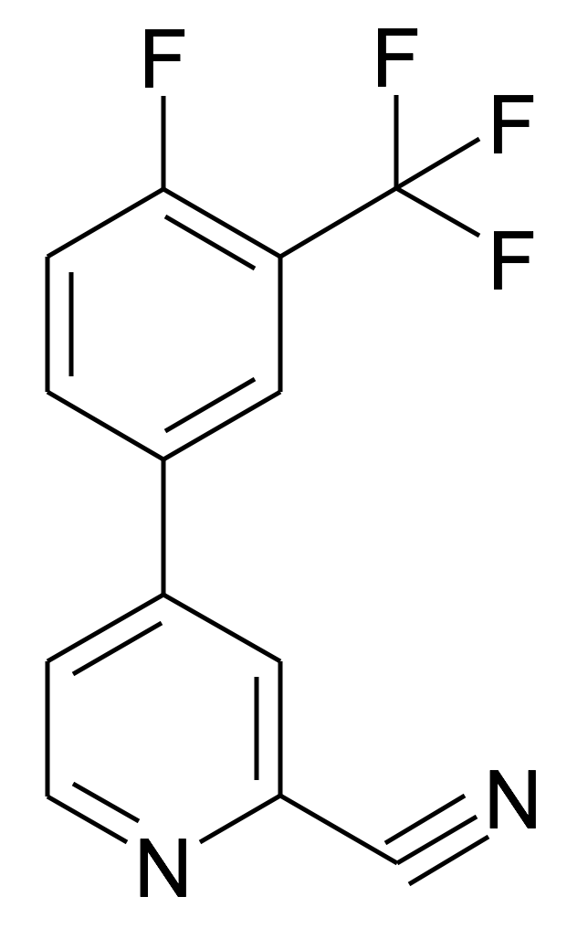 4-(4-Fluoro-3-trifluoromethyl-phenyl)-pyridine-2-carbonitrile
