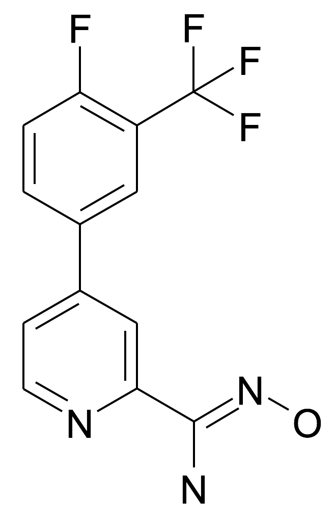 4-(4-Fluoro-3-trifluoromethyl-phenyl)-N-hydroxy-pyridine-2-carboxamidine