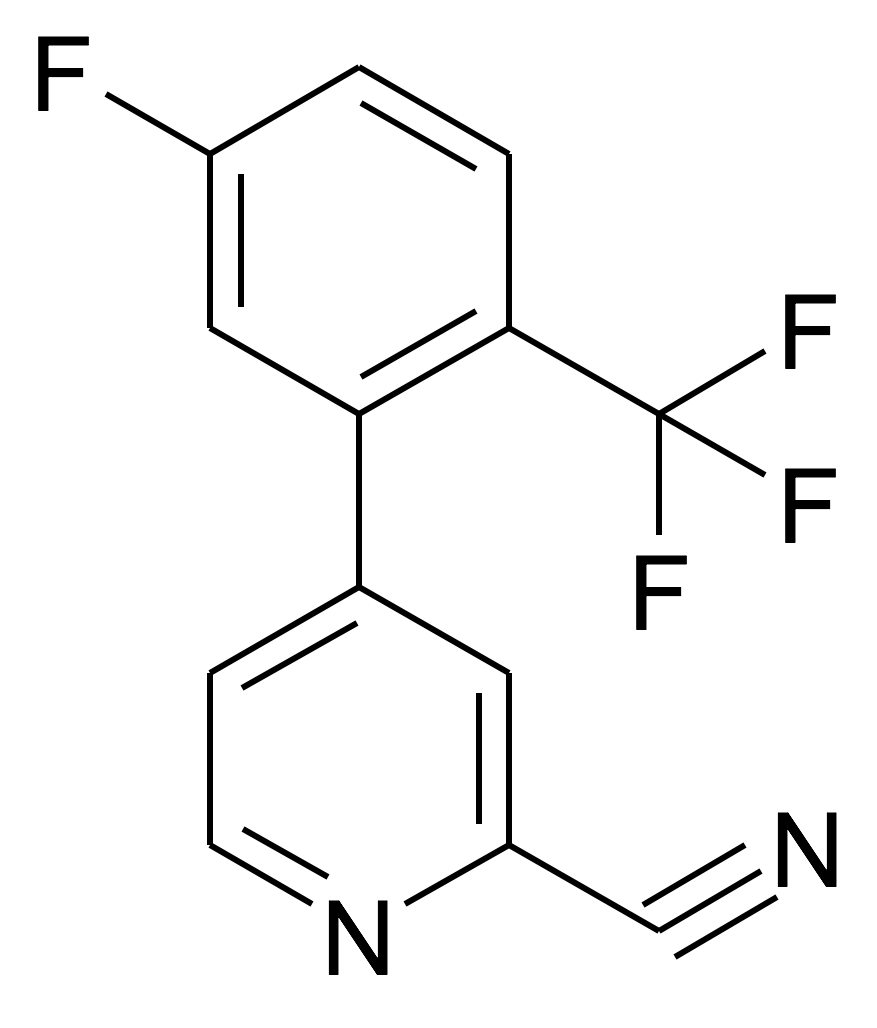 4-(5-Fluoro-2-trifluoromethyl-phenyl)-pyridine-2-carbonitrile
