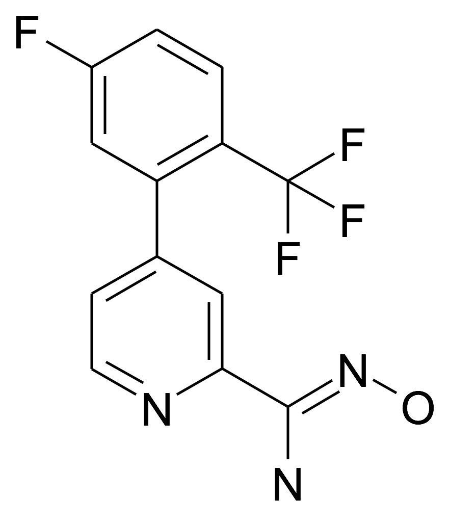 4-(5-Fluoro-2-trifluoromethyl-phenyl)-N-hydroxy-pyridine-2-carboxamidine