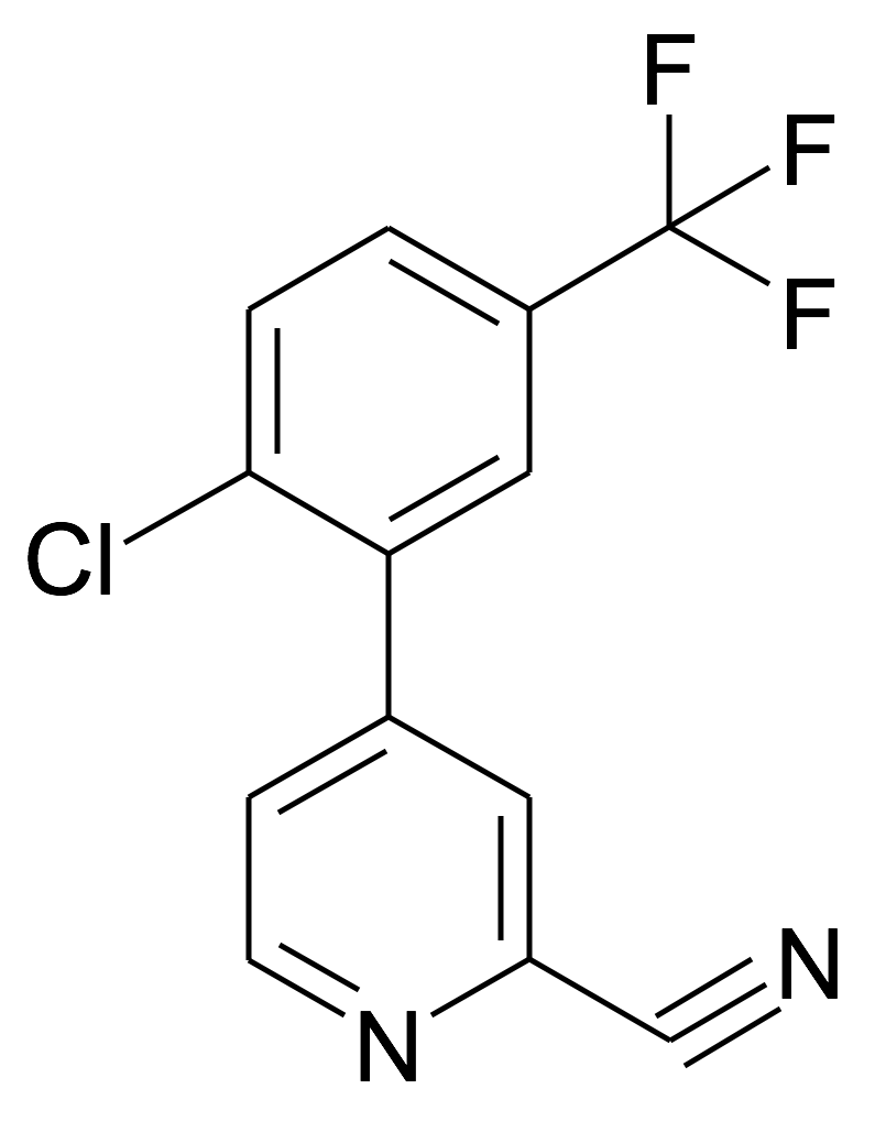 4-(2-Chloro-5-trifluoromethyl-phenyl)-pyridine-2-carbonitrile