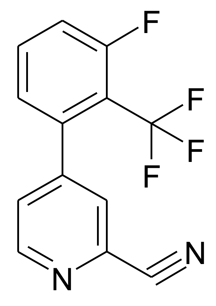 4-(3-Fluoro-2-trifluoromethyl-phenyl)-pyridine-2-carbonitrile