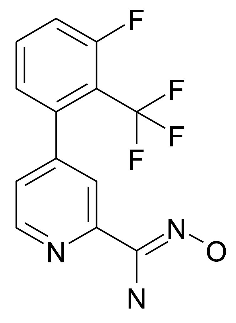 4-(3-Fluoro-2-trifluoromethyl-phenyl)-N-hydroxy-pyridine-2-carboxamidine