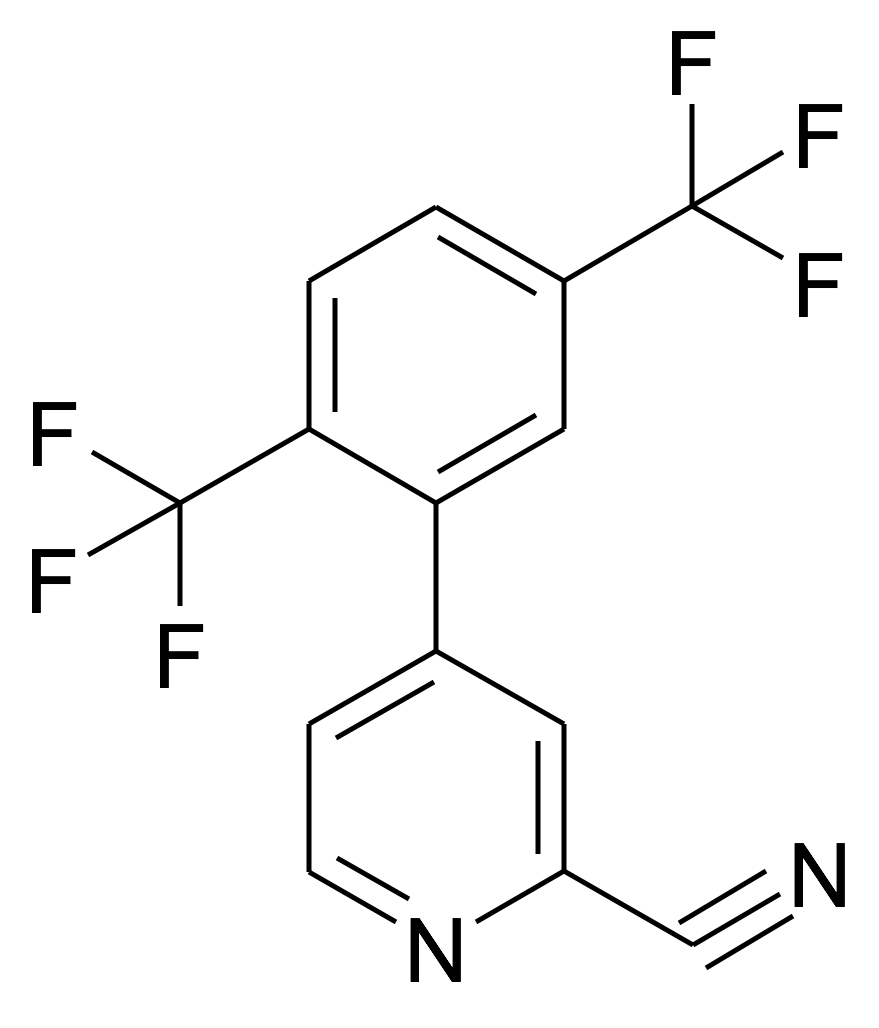 4-(2,5-Bis-trifluoromethyl-phenyl)-pyridine-2-carbonitrile