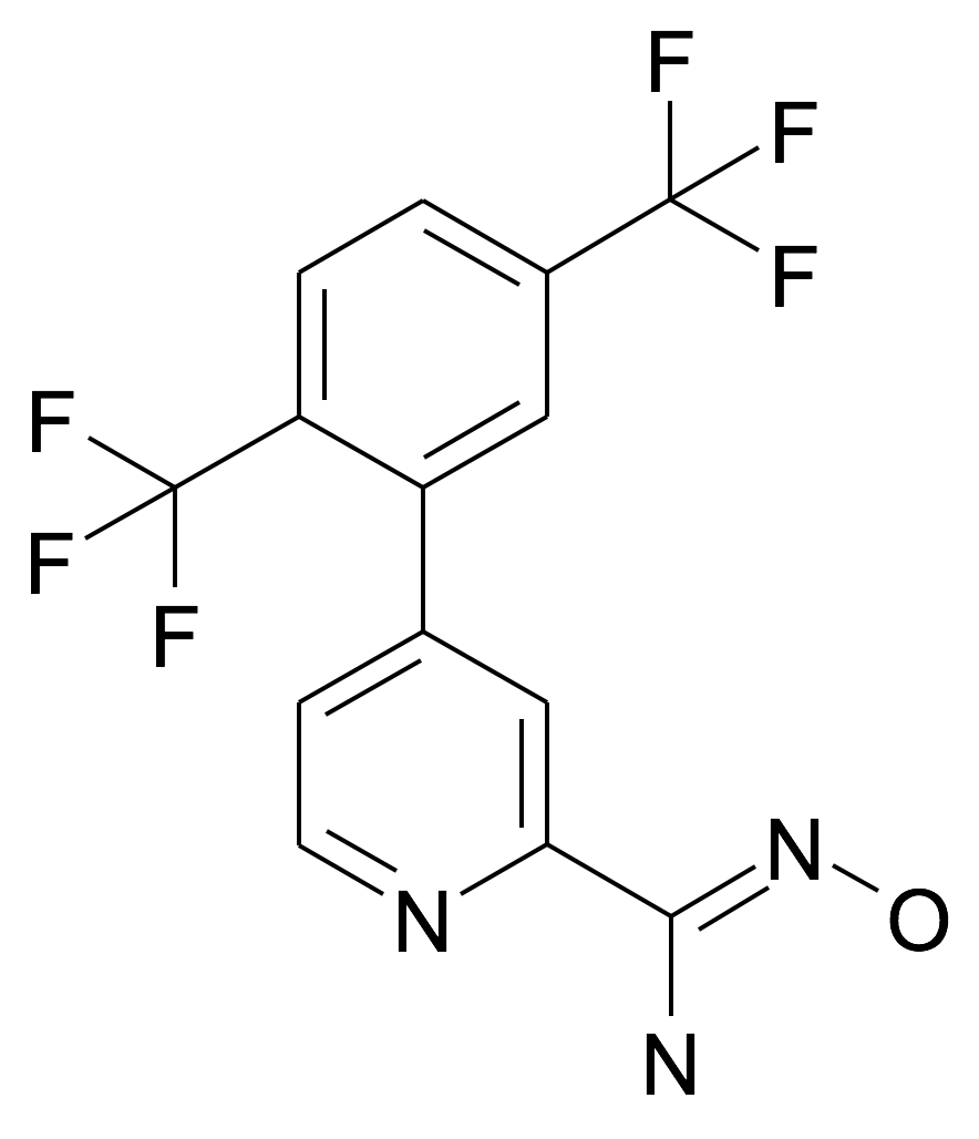 4-(2,5-Bis-trifluoromethyl-phenyl)-N-hydroxy-pyridine-2-carboxamidine