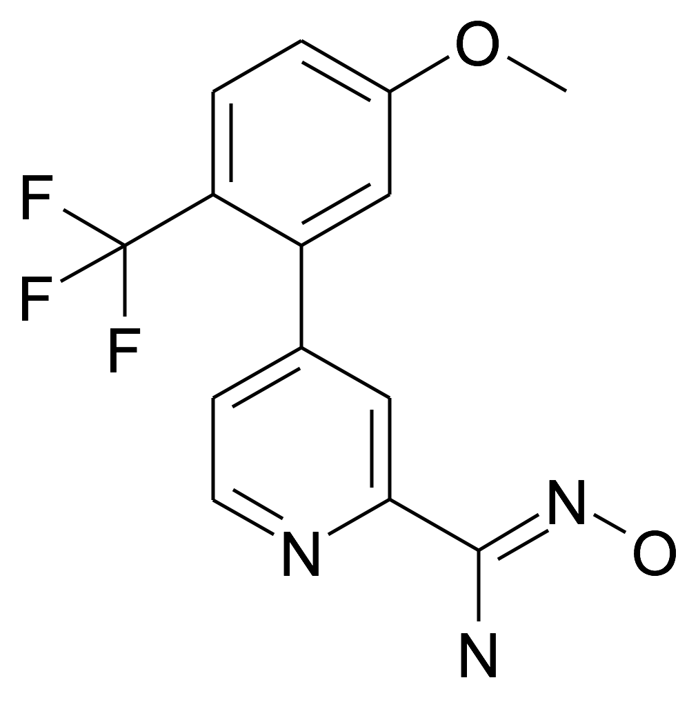N-Hydroxy-4-(5-methoxy-2-trifluoromethyl-phenyl)-pyridine-2-carboxamidine