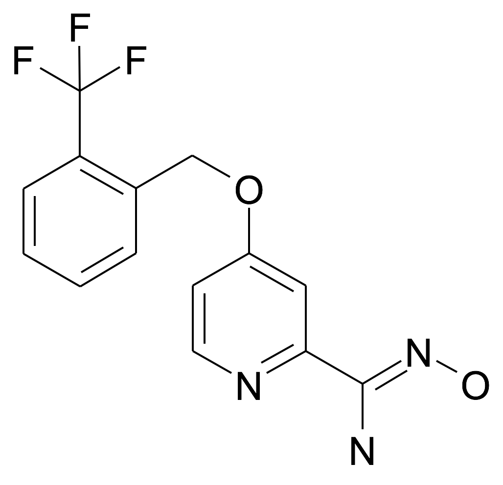 N-Hydroxy-4-(2-trifluoromethyl-benzyloxy)-pyridine-2-carboxamidine