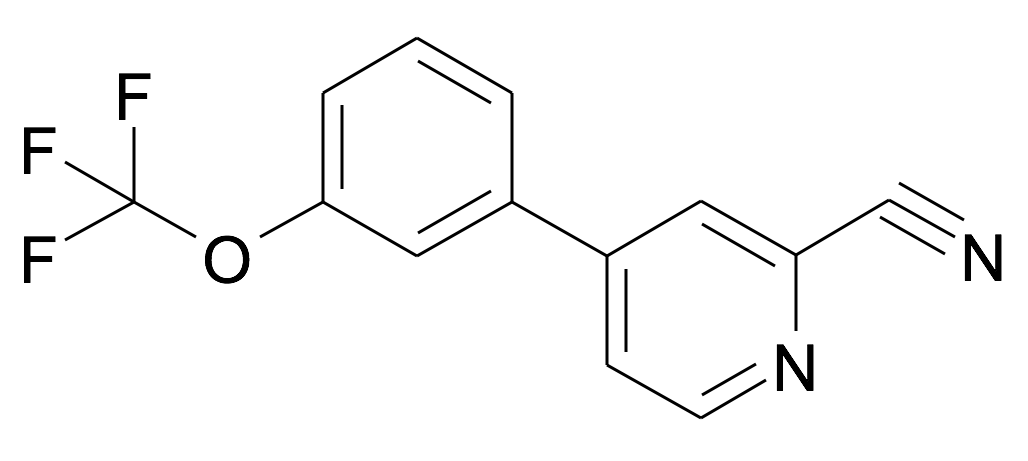 4-(3-Trifluoromethoxy-phenyl)-pyridine-2-carbonitrile