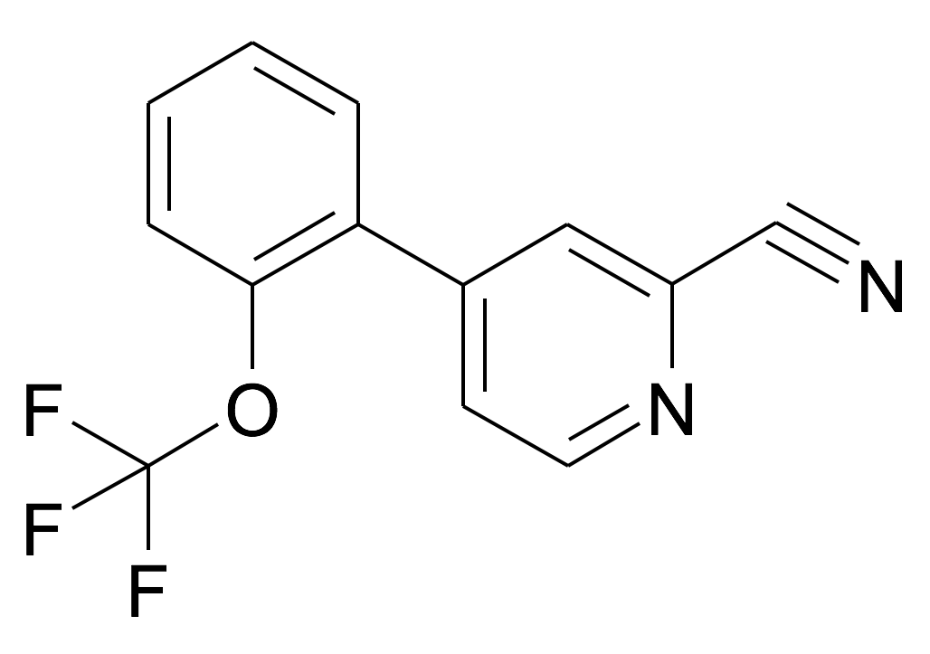 4-(2-Trifluoromethoxy-phenyl)-pyridine-2-carbonitrile