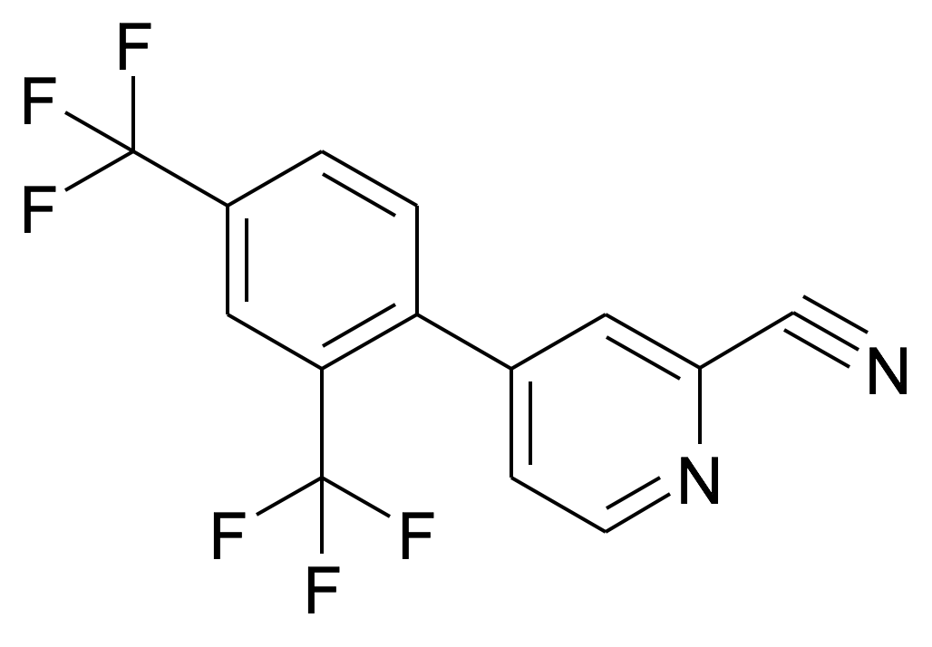 4-(2,4-Bis-trifluoromethyl-phenyl)-pyridine-2-carbonitrile