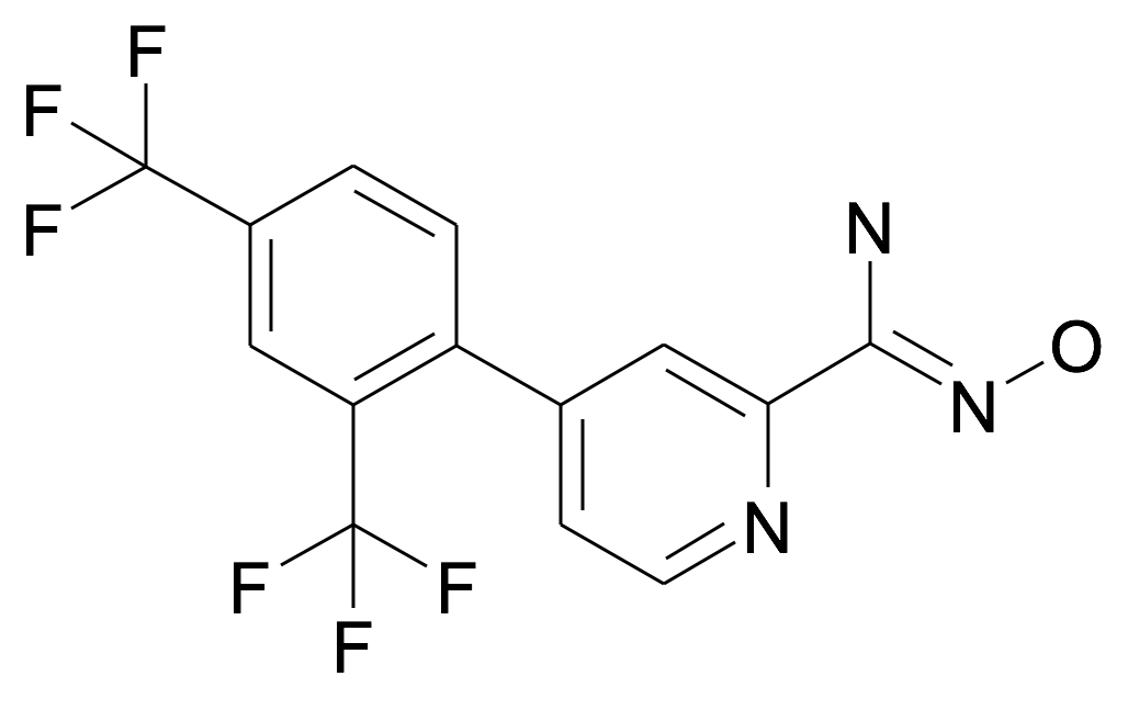 4-(2,4-Bis-trifluoromethyl-phenyl)-N-hydroxy-pyridine-2-carboxamidine