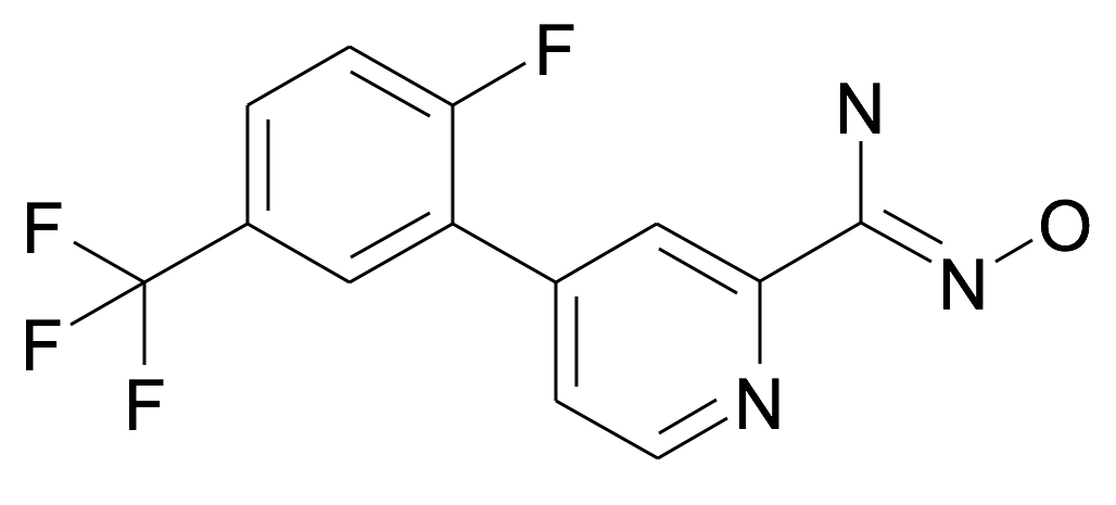 4-(2-Fluoro-5-trifluoromethyl-phenyl)-N-hydroxy-pyridine-2-carboxamidine