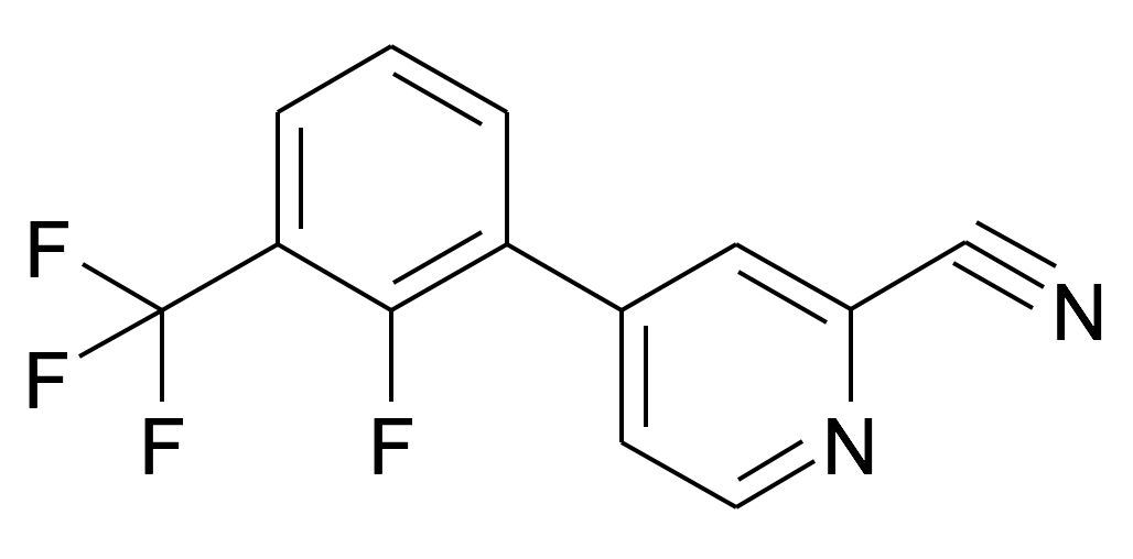 4-(2-Fluoro-3-trifluoromethyl-phenyl)-pyridine-2-carbonitrile