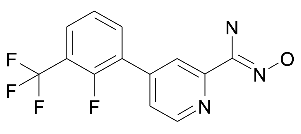 4-(2-Fluoro-3-trifluoromethyl-phenyl)-N-hydroxy-pyridine-2-carboxamidine