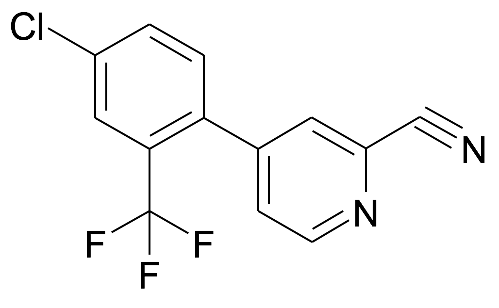 4-(4-Chloro-2-trifluoromethyl-phenyl)-pyridine-2-carbonitrile