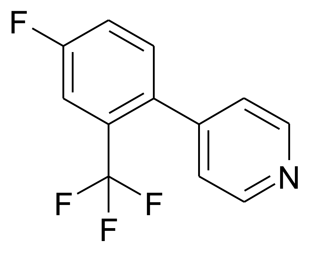 4-(4-Fluoro-2-trifluoromethyl-phenyl)-pyridine
