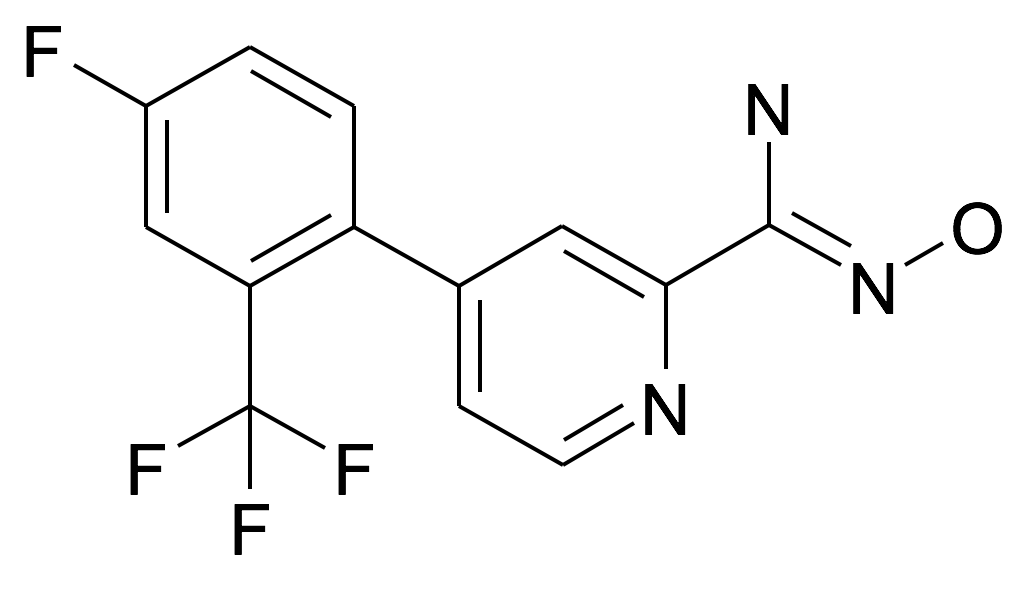 4-(4-Fluoro-2-trifluoromethyl-phenyl)-N-hydroxy-pyridine-2-carboxamidine