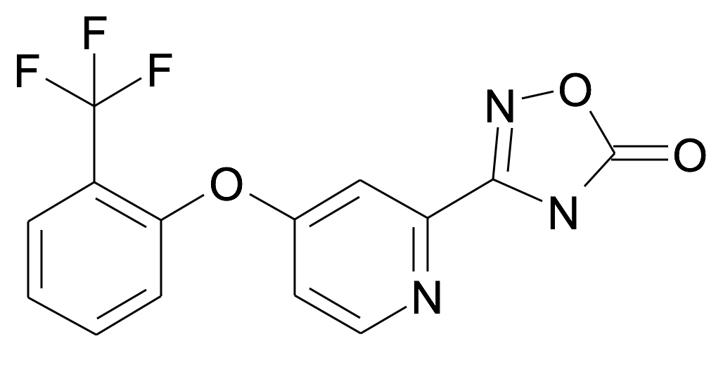 3-[4-(2-Trifluoromethyl-phenoxy)-pyridin-2-yl]-4H-[1,2,4]oxadiazol-5-one