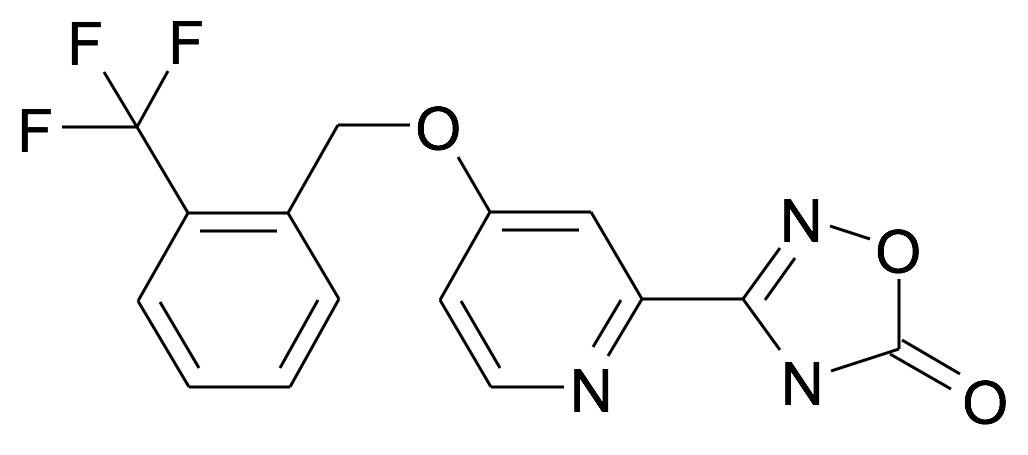 3-[4-(2-Trifluoromethyl-benzyloxy)-pyridin-2-yl]-4H-[1,2,4]oxadiazol-5-one