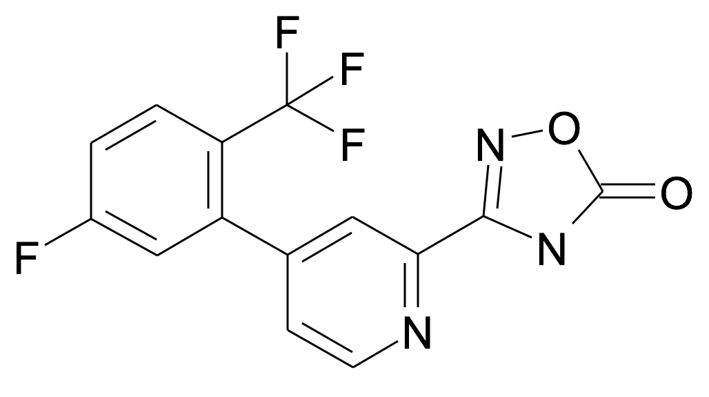 | MFCD30725931 | 3-[4-(5-Fluoro-2-trifluoromethyl-phenyl)-pyridin-2-yl]-4H-[1,2,4]oxadiazol-5-one | acints