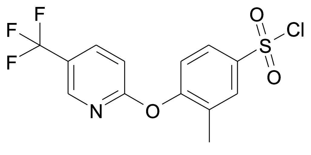 3-Methyl-4-(5-trifluoromethyl-pyridin-2-yloxy)-benzenesulfonyl chloride