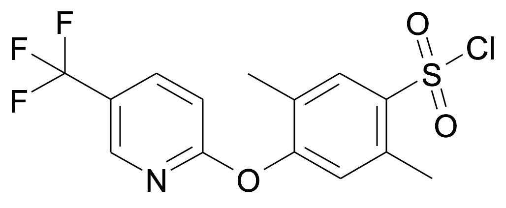 2,5-Dimethyl-4-(5-trifluoromethyl-pyridin-2-yloxy)-benzenesulfonyl chloride