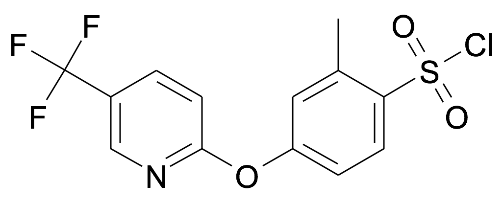 2-Methyl-4-(5-trifluoromethyl-pyridin-2-yloxy)-benzenesulfonyl chloride