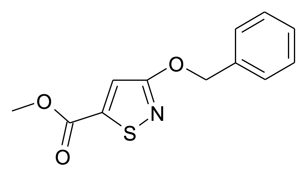 3-Benzyloxy-isothiazole-5-carboxylic acid methyl ester
