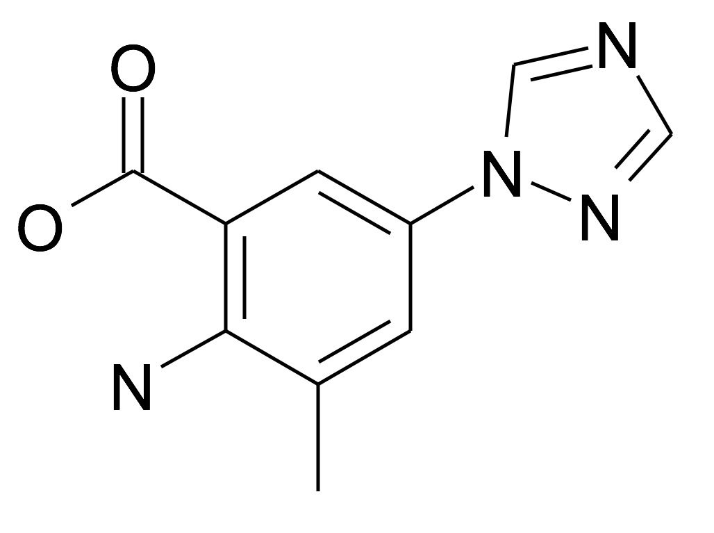2-Amino-3-methyl-5-[1,2,4]triazol-1-yl-benzoic acid