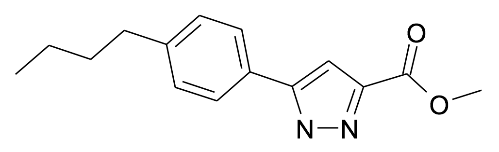 5-(4-Butyl-phenyl)-1H-pyrazole-3-carboxylic acid methyl ester
