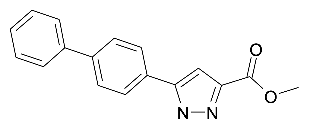 5-Biphenyl-4-yl-1H-pyrazole-3-carboxylic acid methyl ester