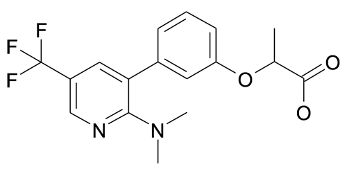 2-[3-(2-Dimethylamino-5-trifluoromethyl-pyridin-3-yl)-phenoxy]-propionic acid