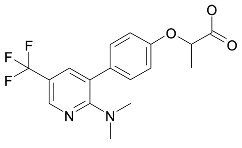 2-[4-(2-Dimethylamino-5-trifluoromethyl-pyridin-3-yl)-phenoxy]-propionic acid