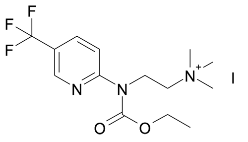 | MFCD19981361 | {2-[Ethoxycarbonyl-(5-trifluoromethyl-pyridin-2-yl)-amino]-ethyl}-trimethyl-ammonium; iodide | acints