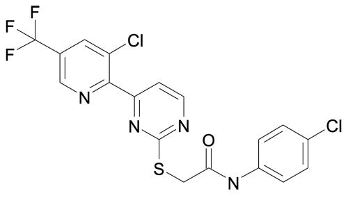 N-(4-Chloro-phenyl)-2-[4-(3-chloro-5-trifluoromethyl-pyridin-2-yl)-pyrimidin-2-ylsulfanyl]-acetamide