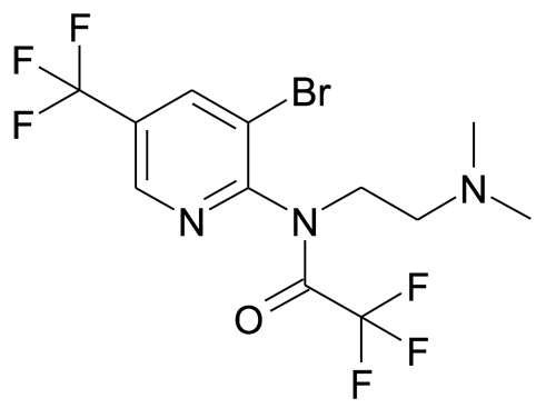 N-(3-Bromo-5-trifluoromethyl-pyridin-2-yl)-N-(2-dimethylamino-ethyl)-2,2,2-trifluoro-acetamide