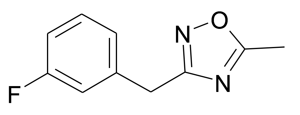 | MFCD31714183 | 3-(3-Fluoro-benzyl)-5-methyl-[1,2,4]oxadiazole | acints