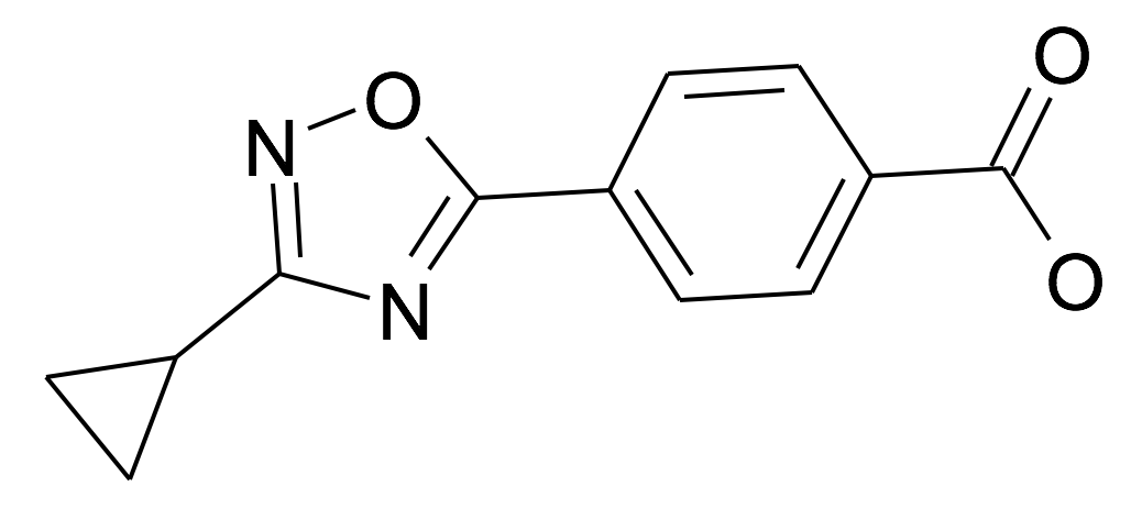 4-(3-Cyclopropyl-[1,2,4]oxadiazol-5-yl)-benzoic acid
