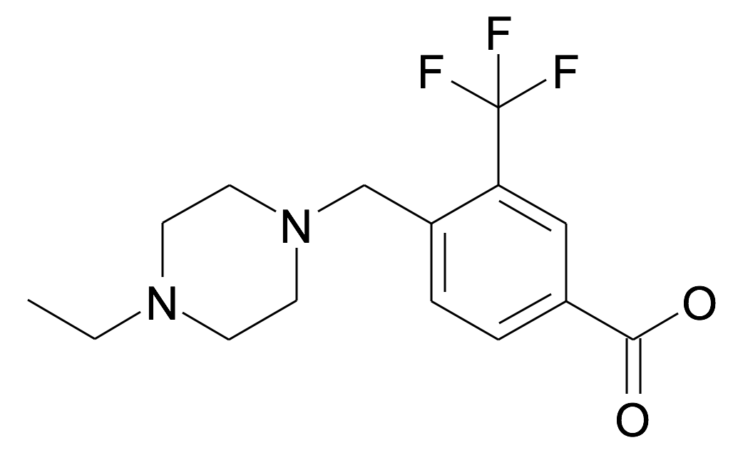 4-(4-Ethyl-piperazin-1-ylmethyl)-3-trifluoromethyl-benzoic acid