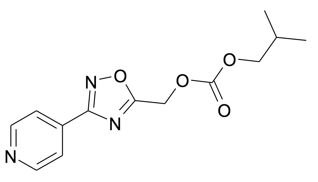| MFCD31714206 | Carbonic acid isobutyl ester 3-pyridin-4-yl-[1,2,4]oxadiazol-5-ylmethyl ester | acints