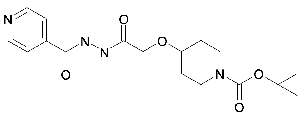4-{2-Oxo-2-[N'-(pyridine-4-carbonyl)-hydrazino]-ethoxy}-piperidine-1-carboxylic acid tert-butyl ester