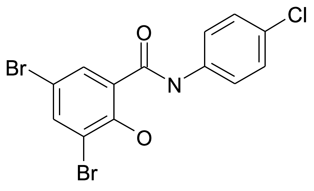3,5-Dibromo-N-(4-chloro-phenyl)-2-hydroxy-benzamide