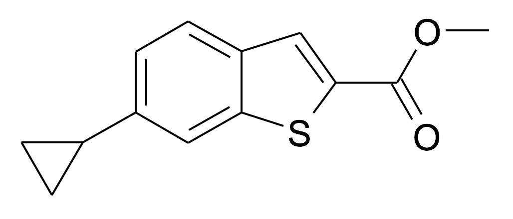 6-Cyclopropyl-benzo[b]thiophene-2-carboxylic acid methyl ester